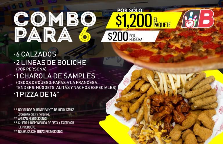 COMBO PARA 6 2018